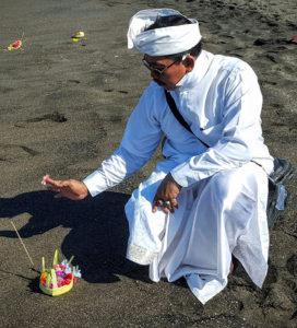Bali Series - offering on beach