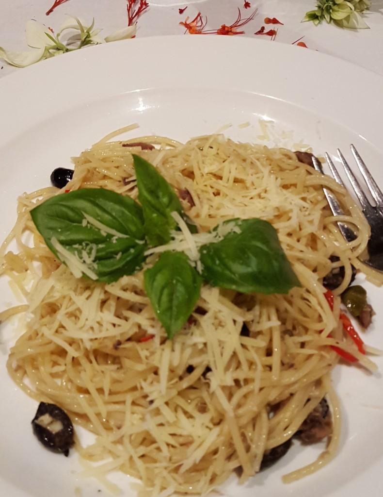 pasta dish first night